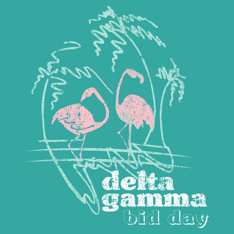 Retro Delta Gamma Flamingo Design