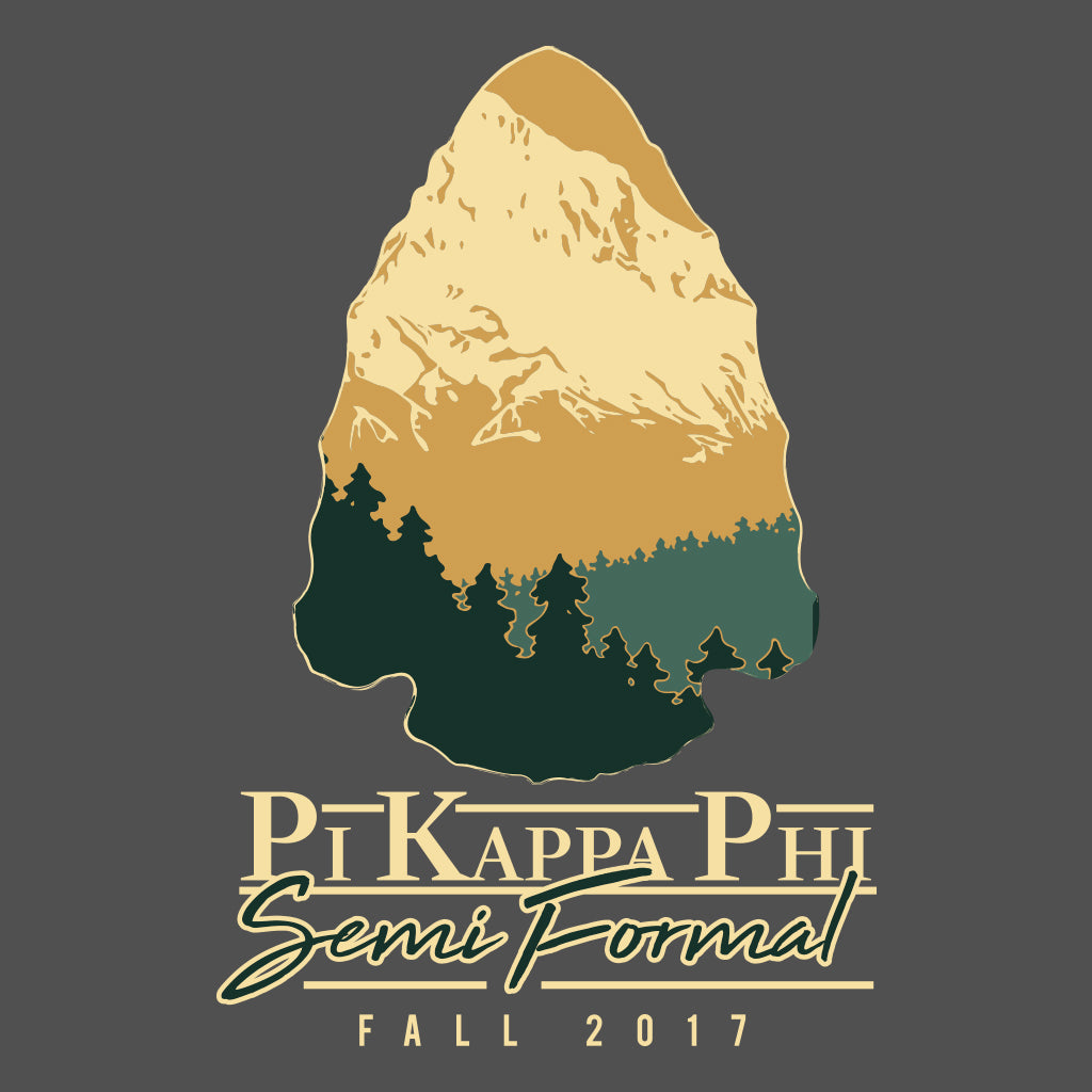 Pi Kappa Phi Semi Formal Mountain Design