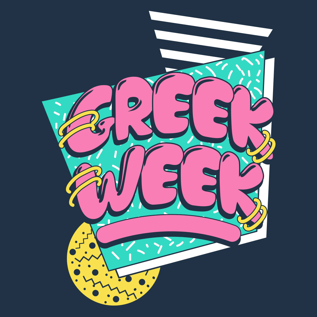 80's Throwback Greek Week Design