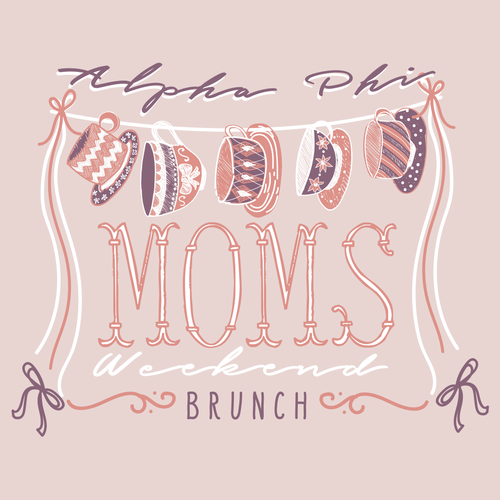 Alpha Phi Mom's Weekend Brunch Design