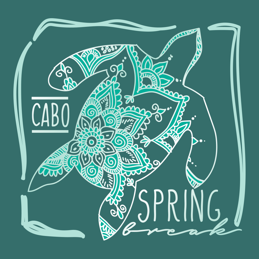 Turtle Mandala Spring Break Design