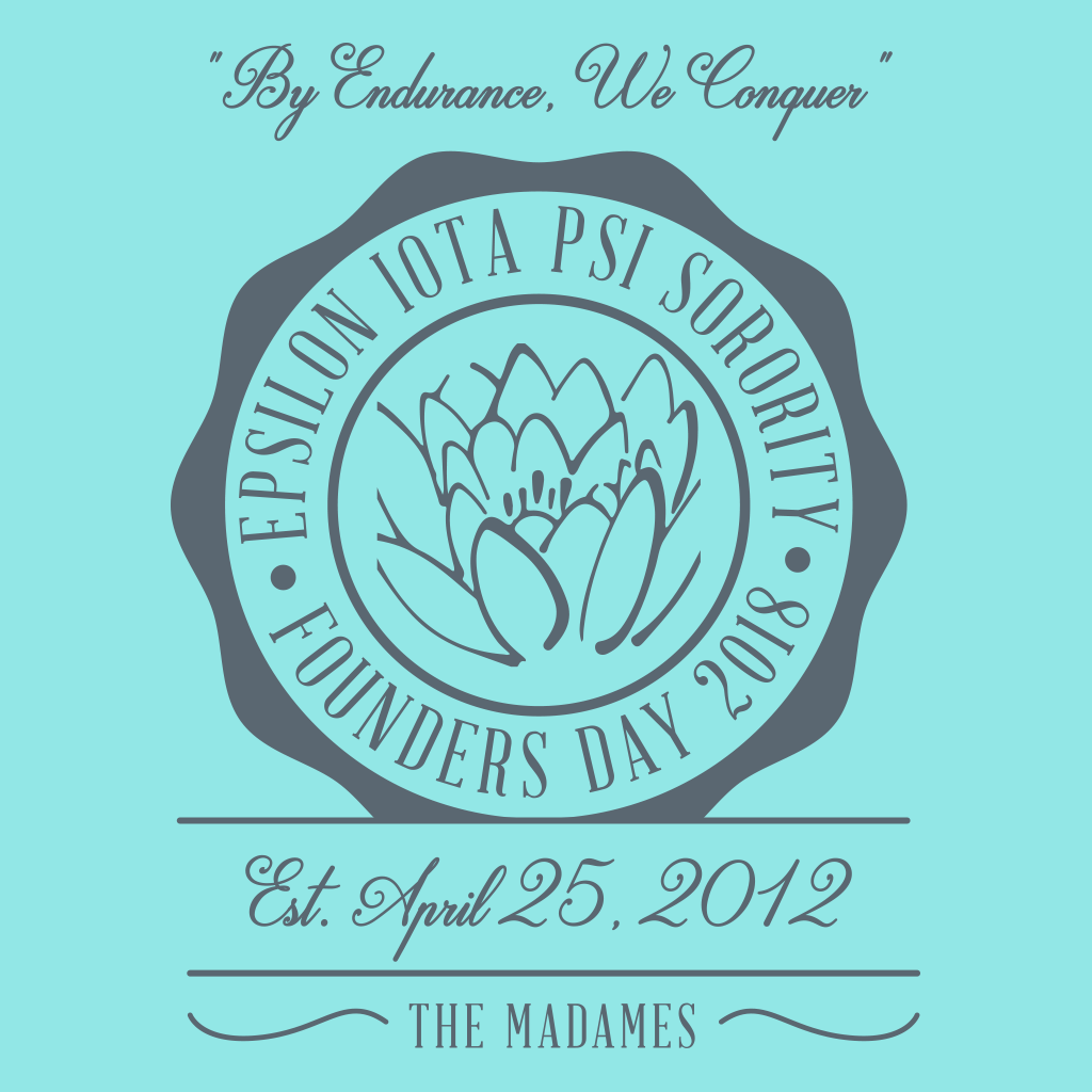 Epsilon Iota Psi Founder's Day Design