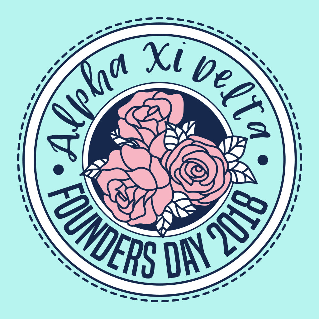 Alpha Xi Delta Founders Day Rose Design