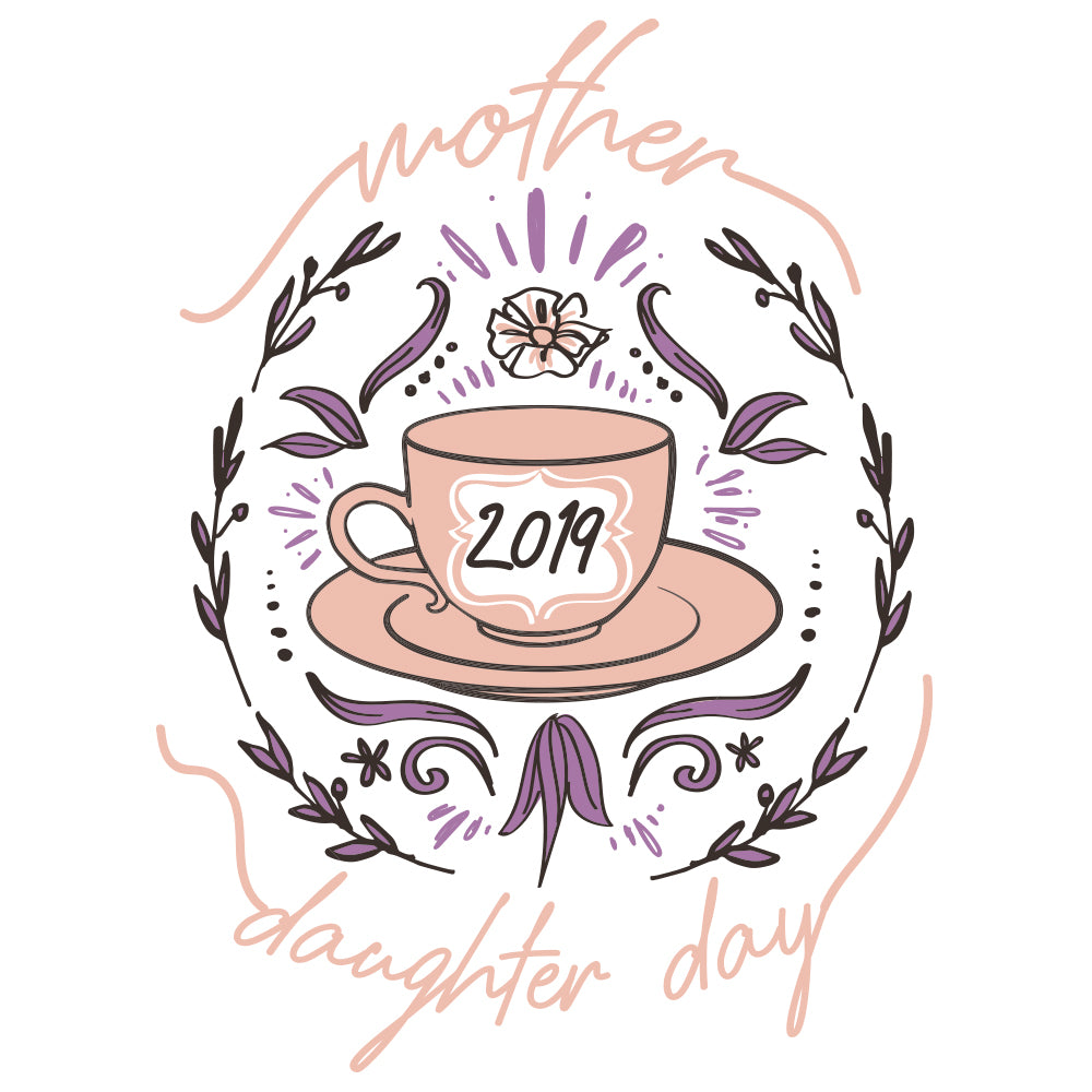 Mother Daughter Day Teacup Design