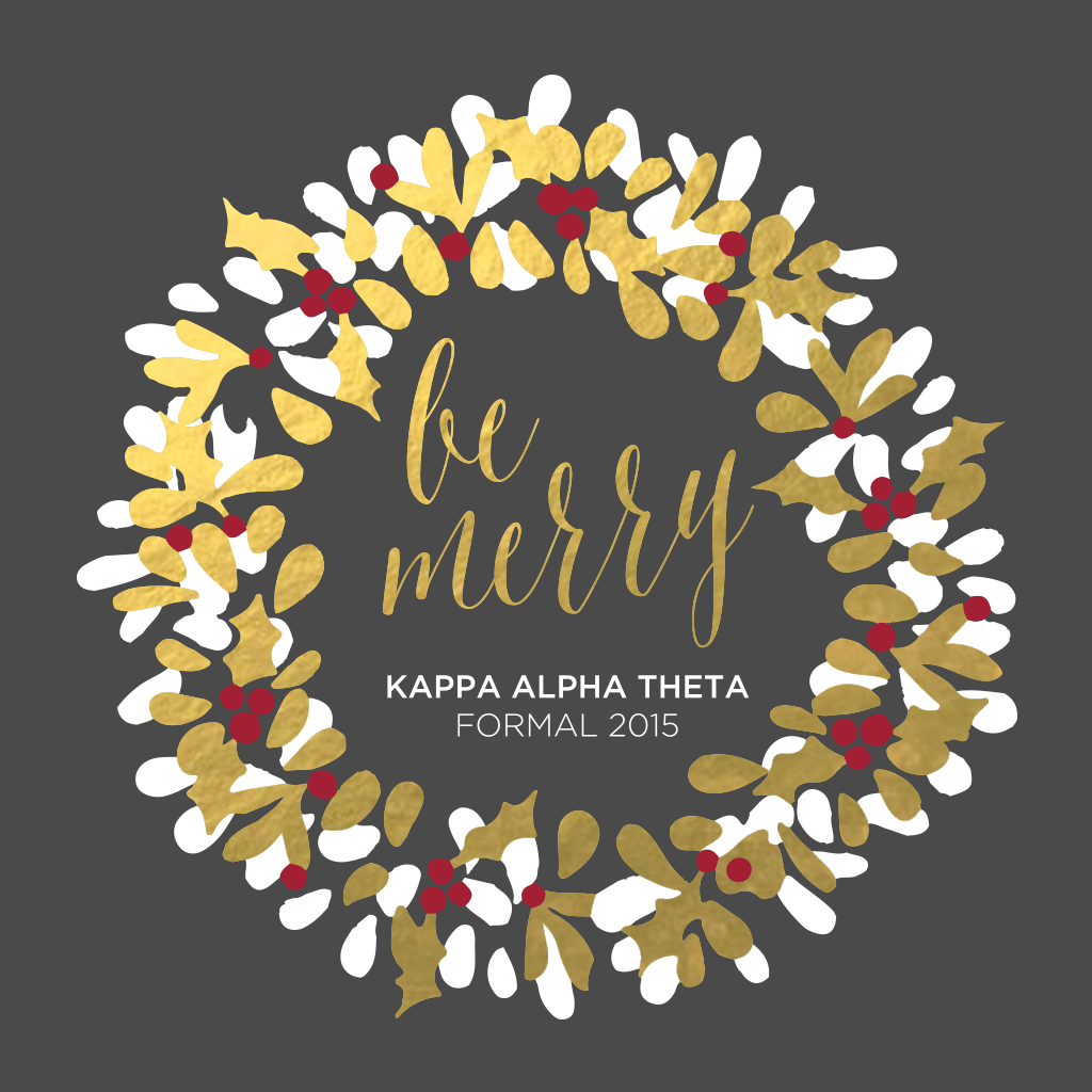 Kappa Alpha Theta Formal Design