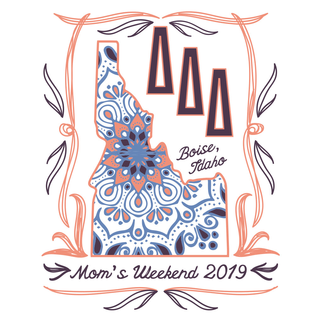 Tri Delta Idaho Mom's Weekend Design