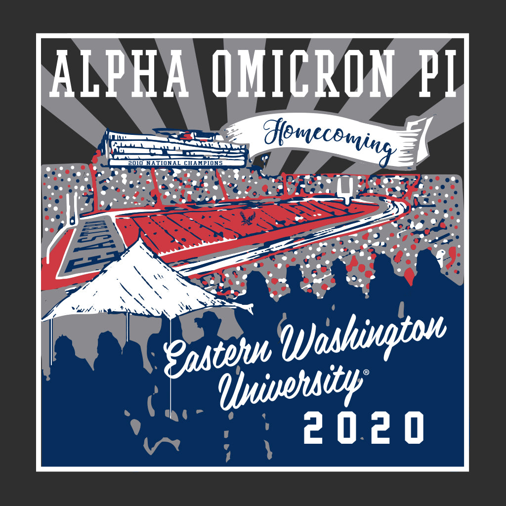 Alpha Omicron Pi Stadium Homecoming Design
