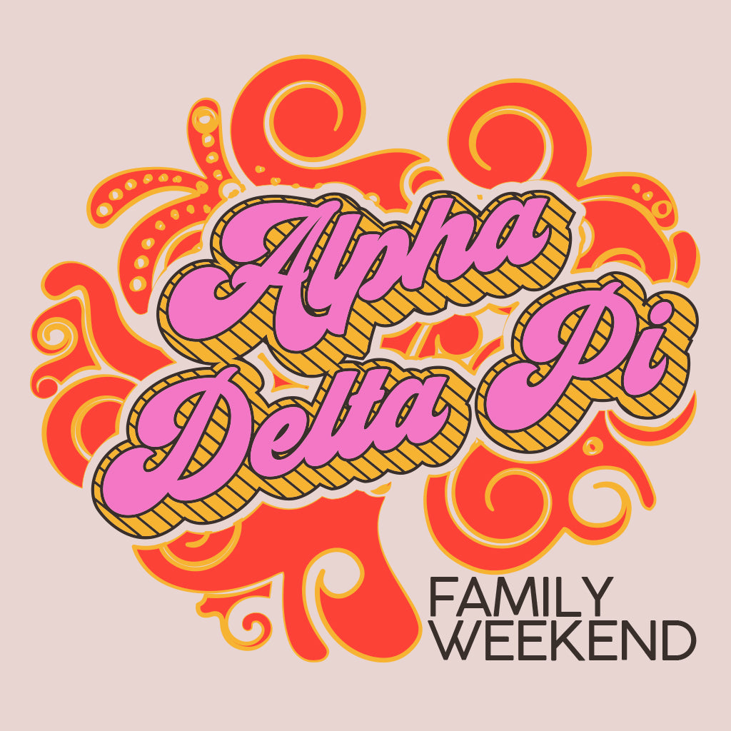 Alpha Delta Pi Groovy Family Weekend Design