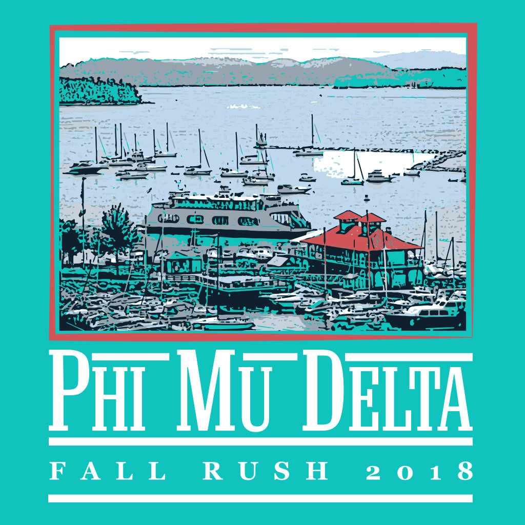 Phi Mu Delta Lake Fall Rush Design