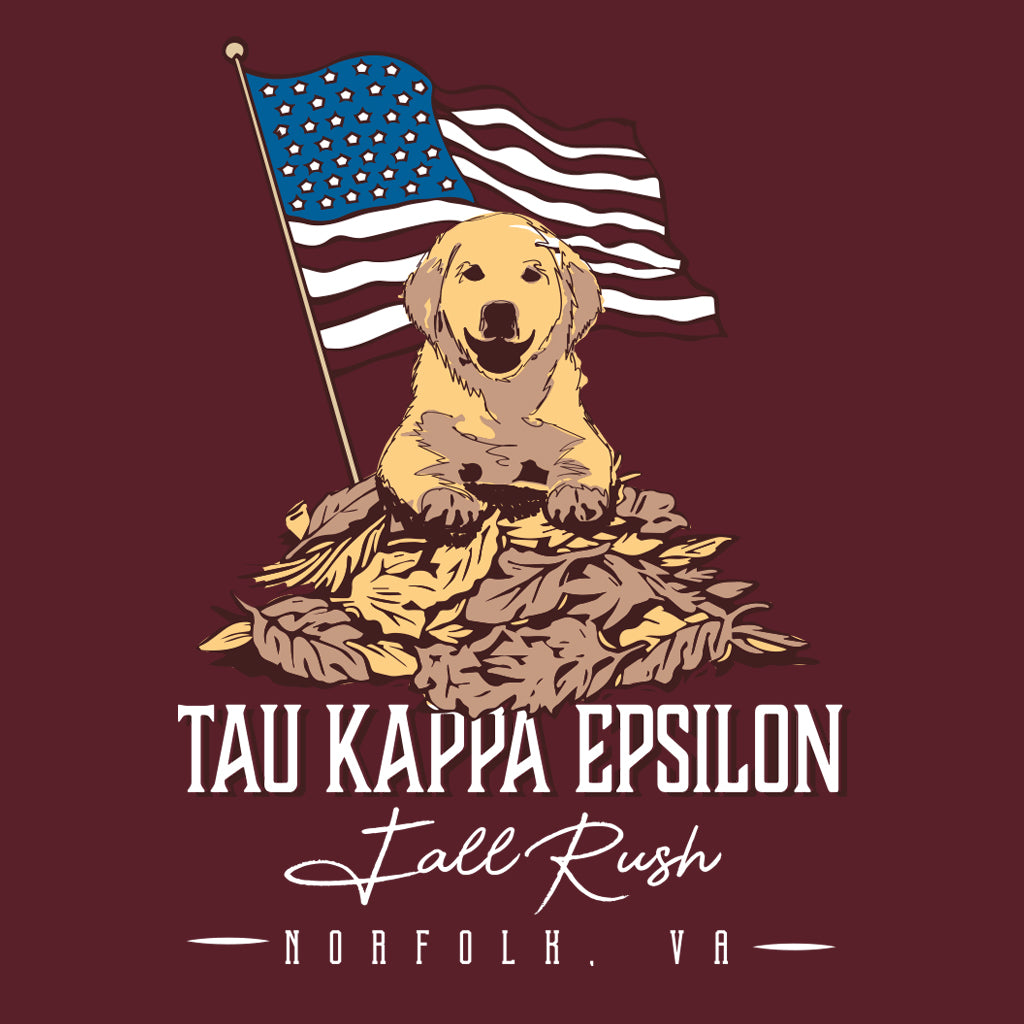 Tau Kappa Epsilon Fall Rush American Dog Design