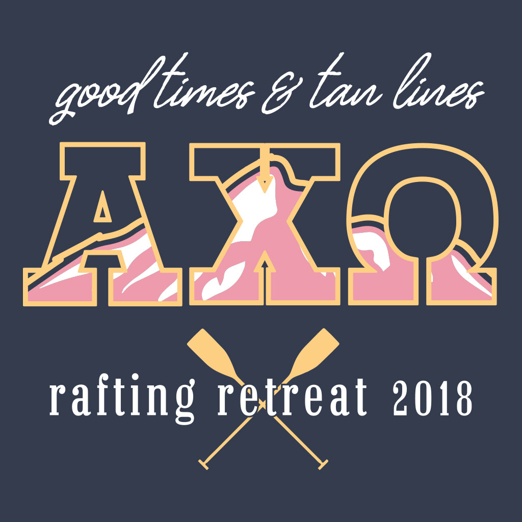 Alpha Chi Omega Mountain Rafting Design