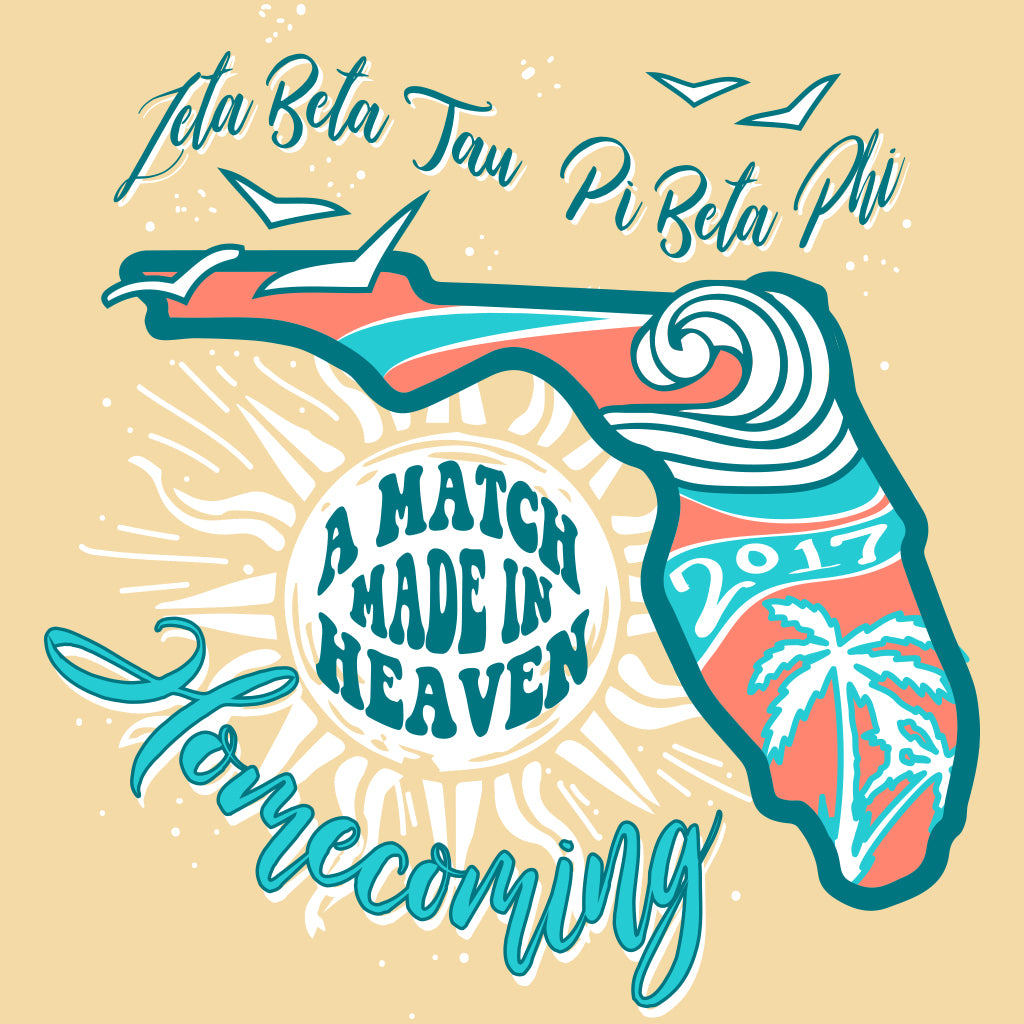 Zeta Beta Tau and Pi Beta Phi Tropical Homecoming Design