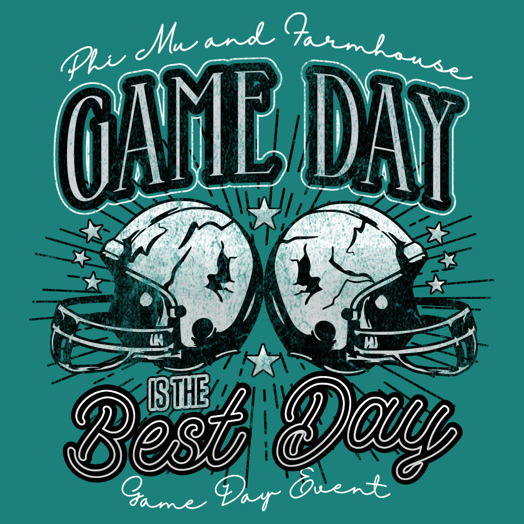 Phi Mu and Farmhouse Game Day Football Design