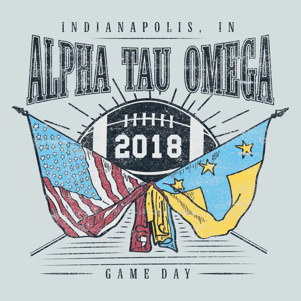 Alpha Tau Omega American Football Design