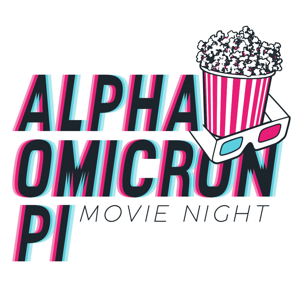 Alpha Omicron Pi Movie Night 3D Vibes Design