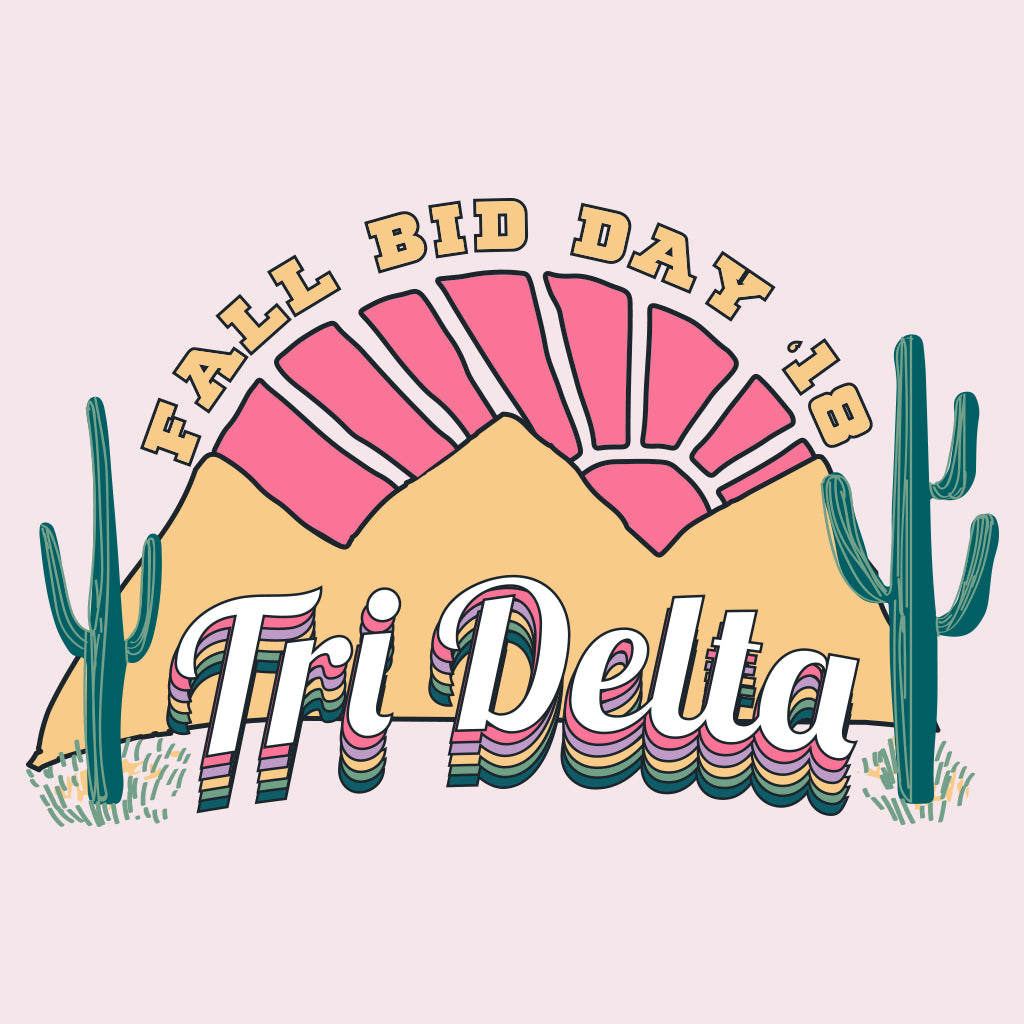 Tri Delta Fall Bid Day Desert Design