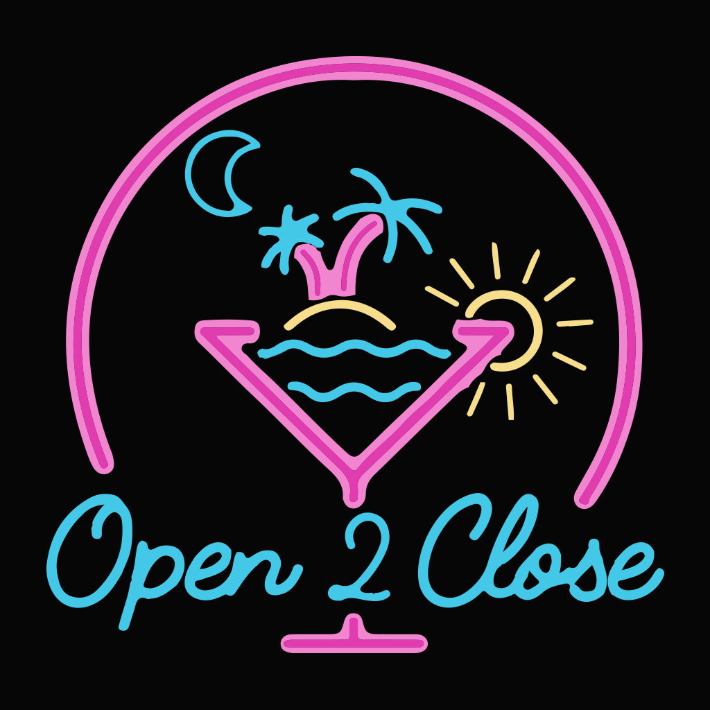 Retro Neon Sign Open 2 Close Design