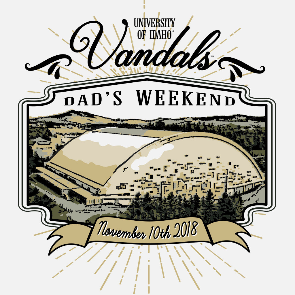 University of Idaho Vintage Dad's Weekend Design
