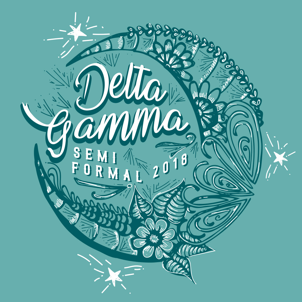 Delta Gamma Semi Formal Vintage Moon Design