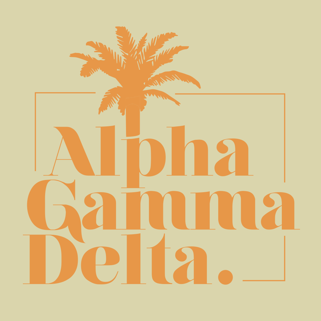 Alpha Gamma Delta Palm Tree Design