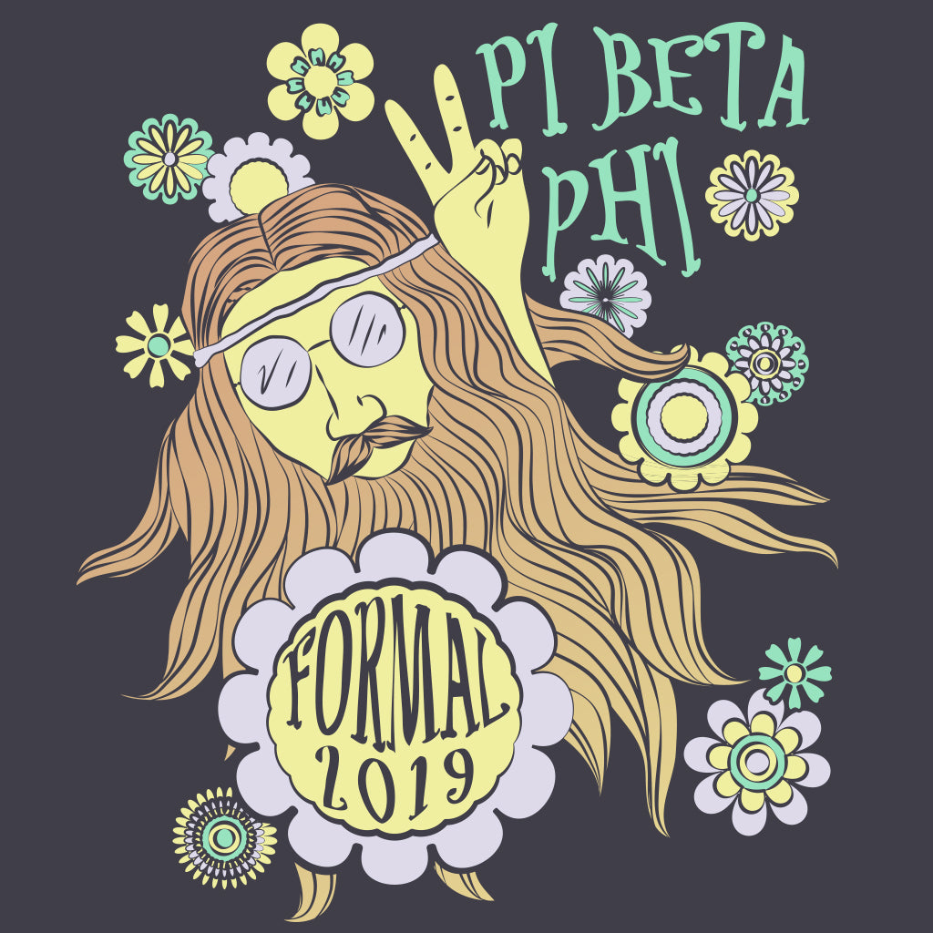 Pi Beta Phi Groovy Throwback Formal Design