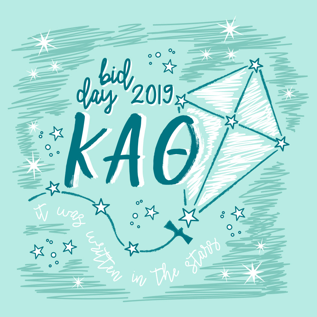 Kappa Alpha Theta It Was Written in the Stars Design