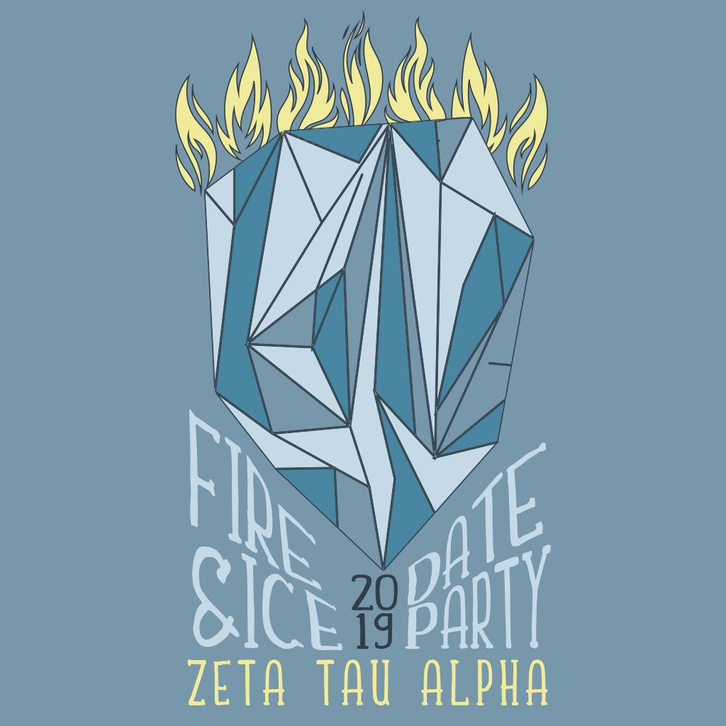 Zeta Tau Alpha Fire and Ice Date Party Design