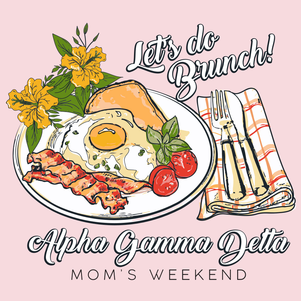 "Alpha Gamma Delta ""Let's Do Brunch"" Mom's Weekend Design"