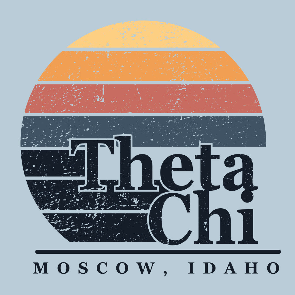 Theta Chi Retro Sunset & Surf Recruitment Design