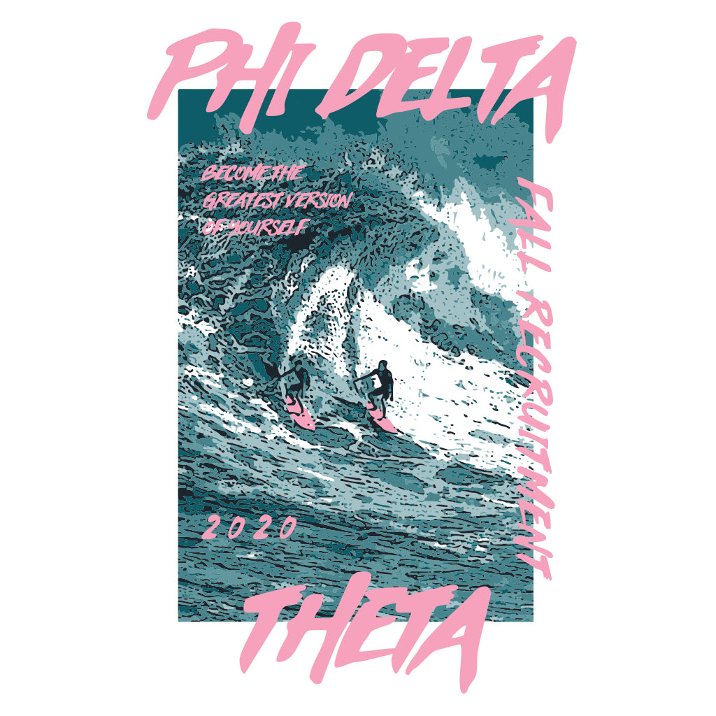 Phi Delta Theta Old School Surf Recruitment Design