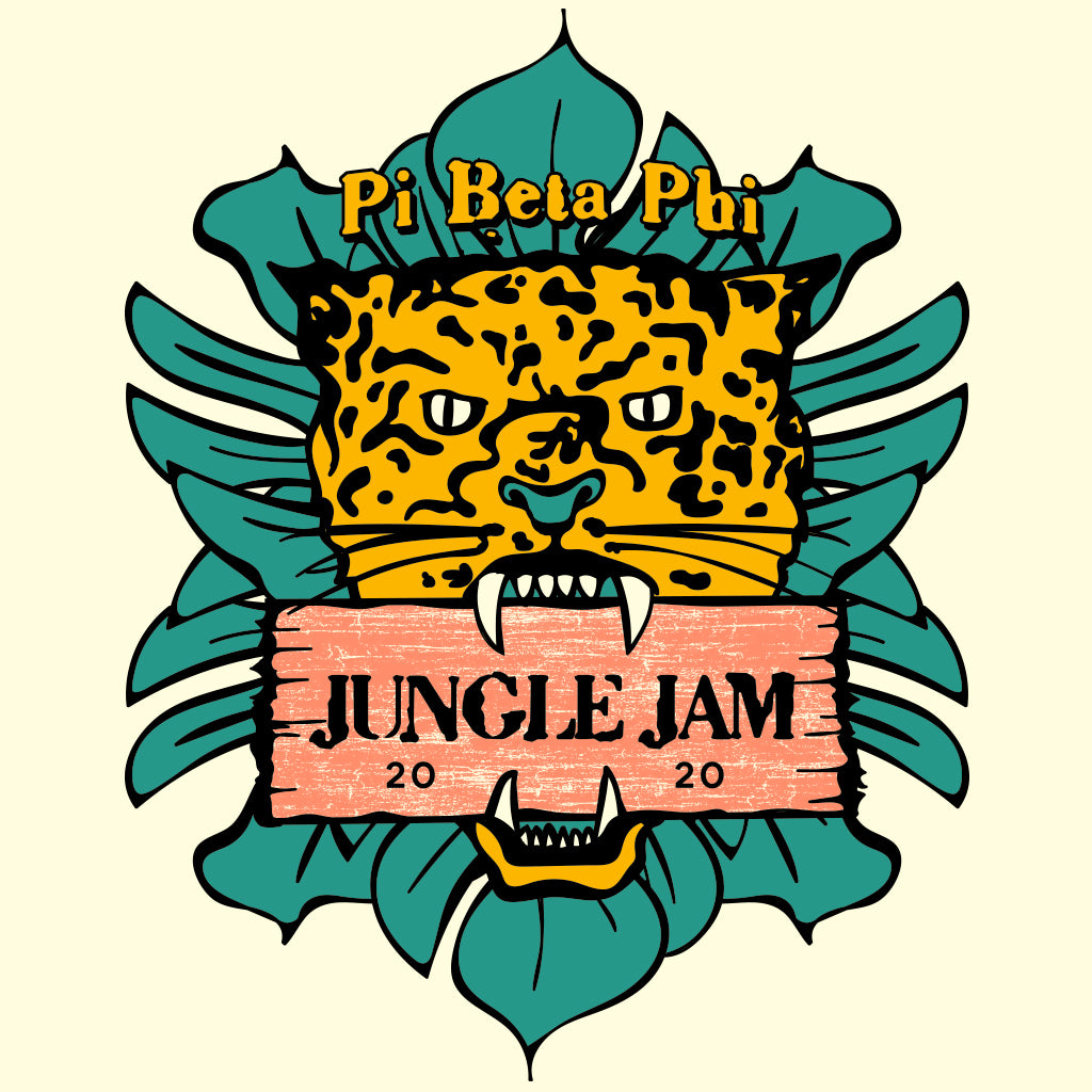 Pi Beta Phi Jungle Jam Retro Design
