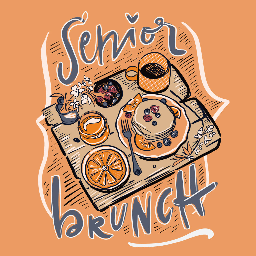 Hand Drawn Senior Brunch Design