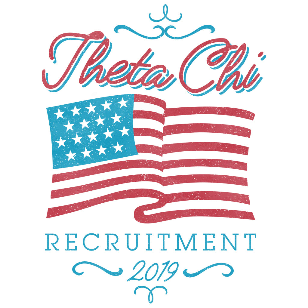 Theta Chi American Flag Recruitment Design