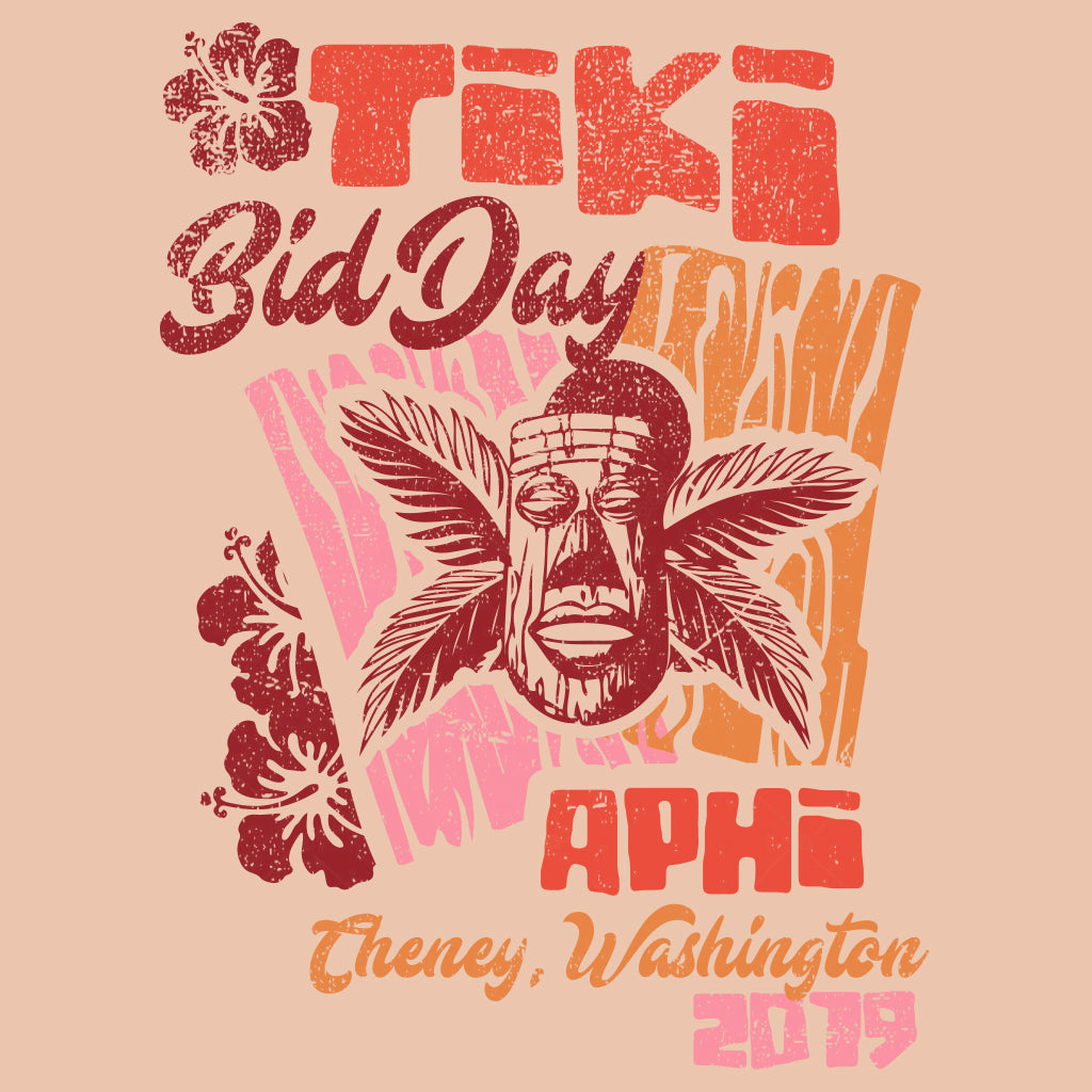 Alpha Phi Tiki Bid Day Design