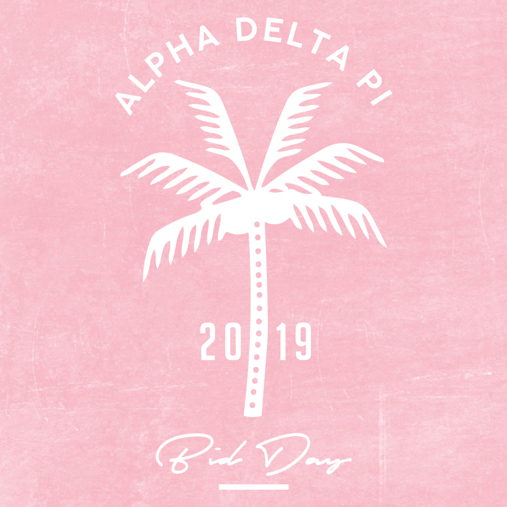 Alpha Delta Pi Palm Tree Bid Day Design