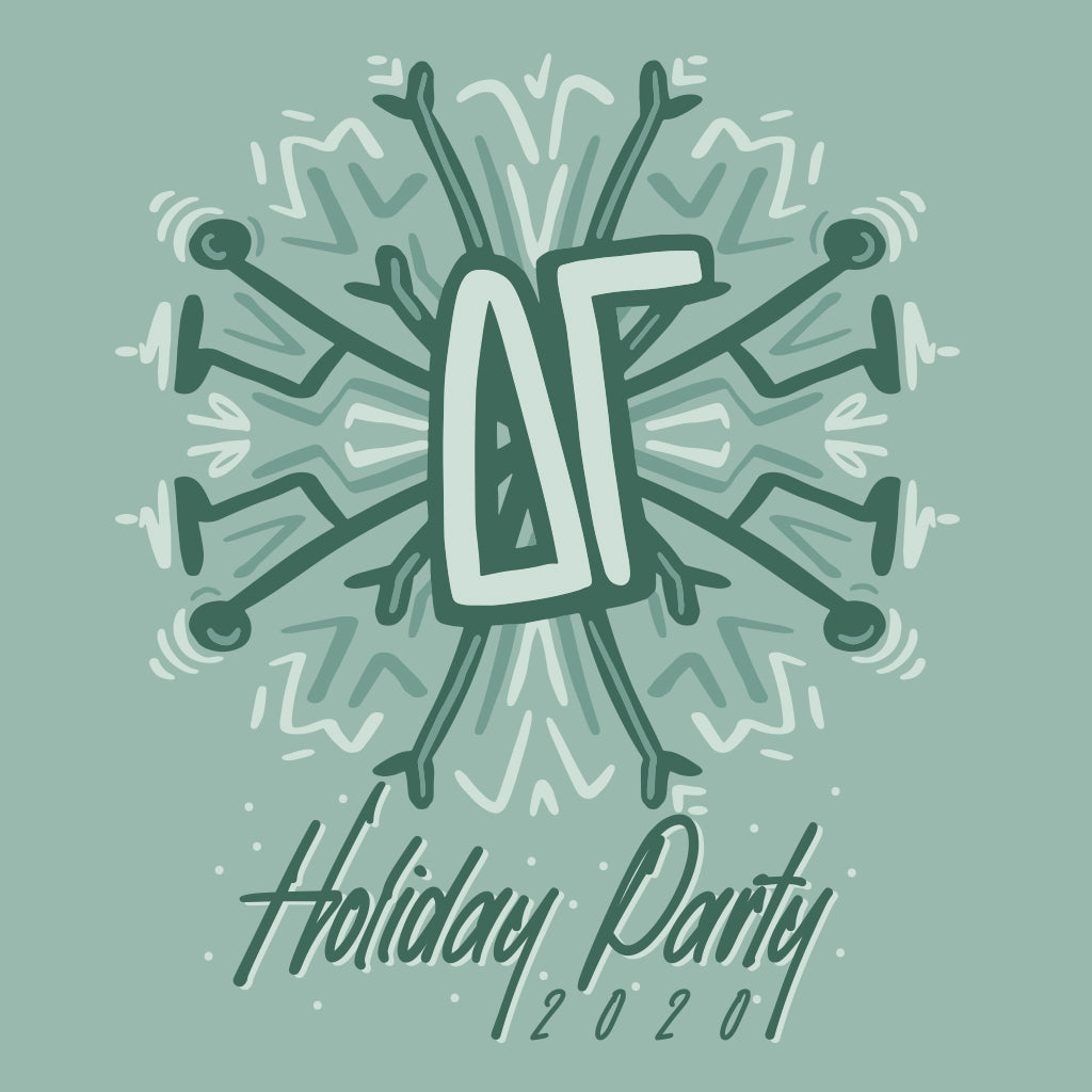 Snowflake Holiday Party Design