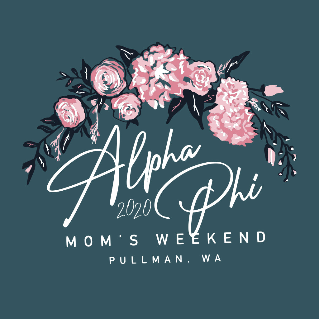 Alpha Phi Flower Crown Design