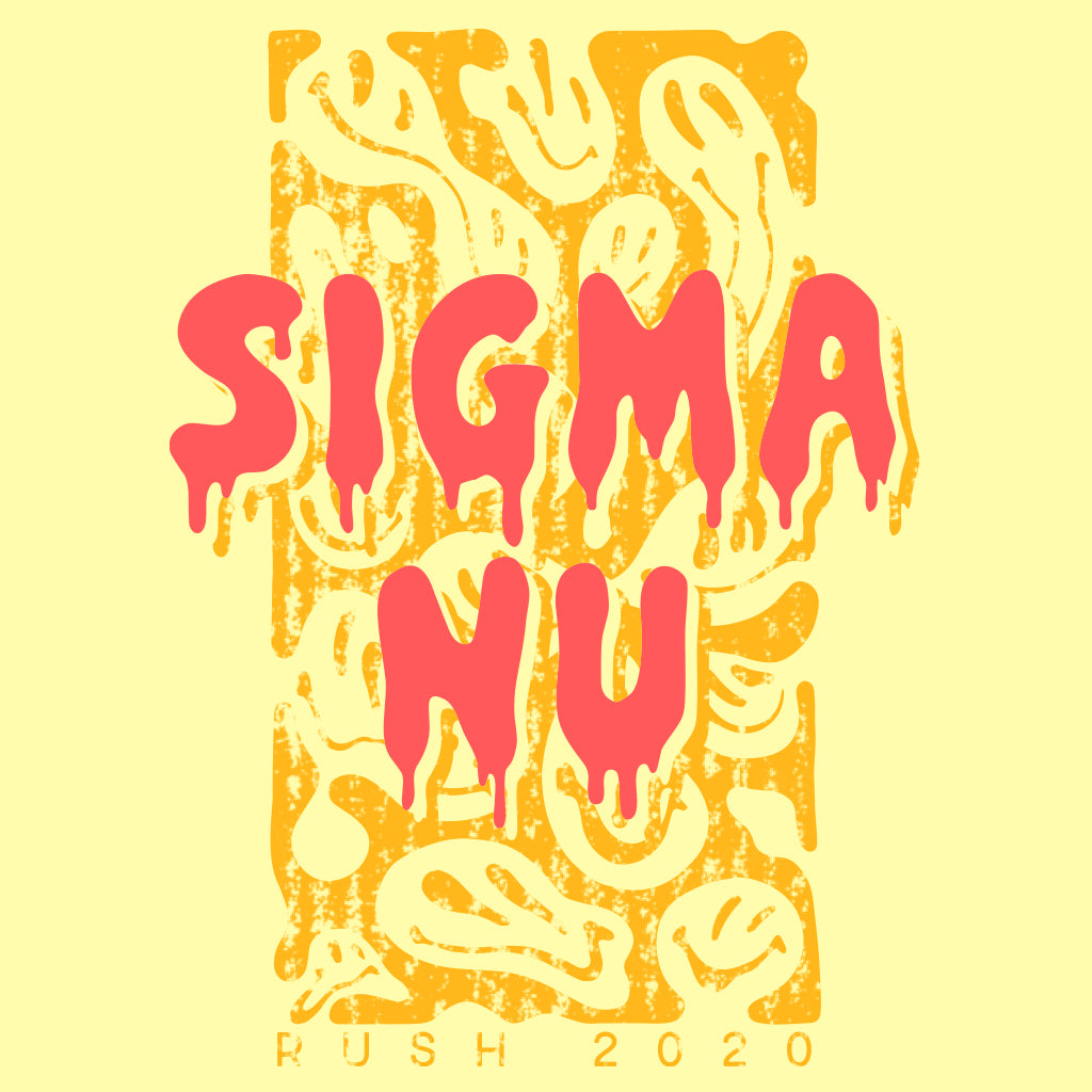 Sigma Nu Melting Smiley Design