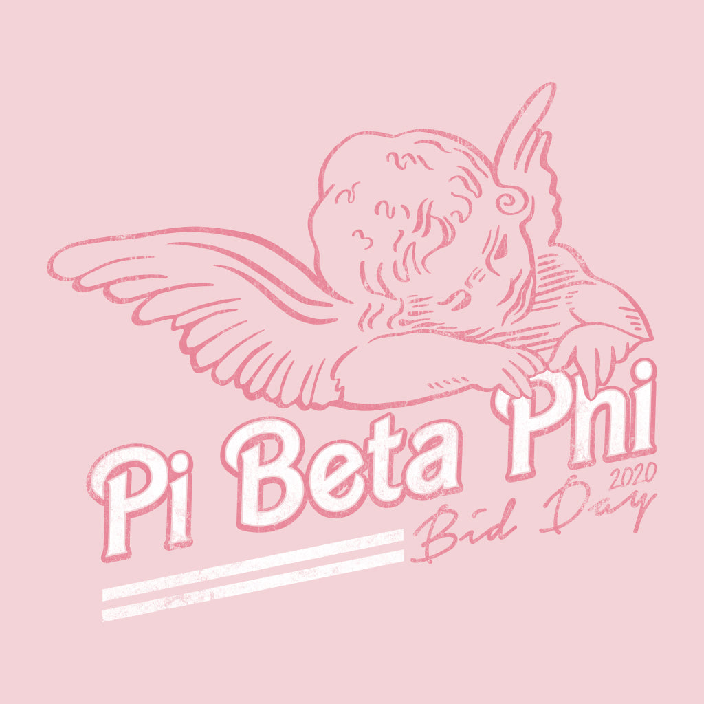 Pi Phi Angel Bid Day Design