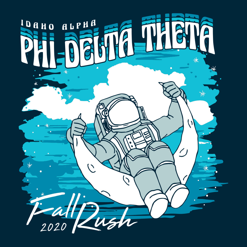 Phi Delta Theta Man on the Moon Design