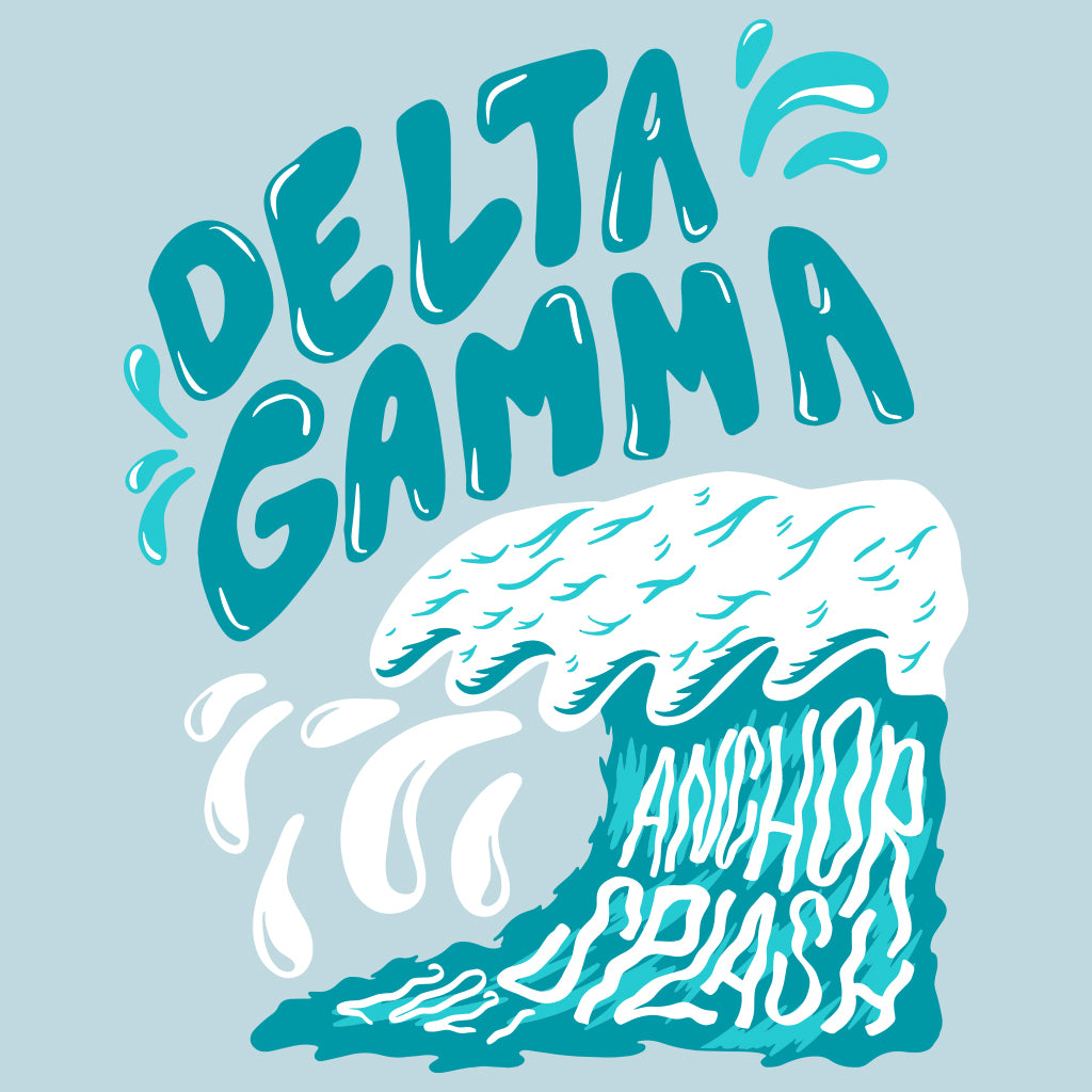 Delta Gamma Wavy Anchor Splash Design