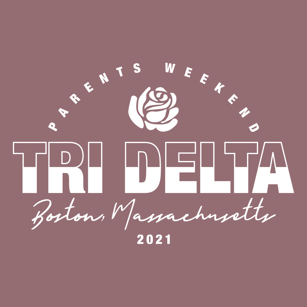 Tri Delta Block Text Design