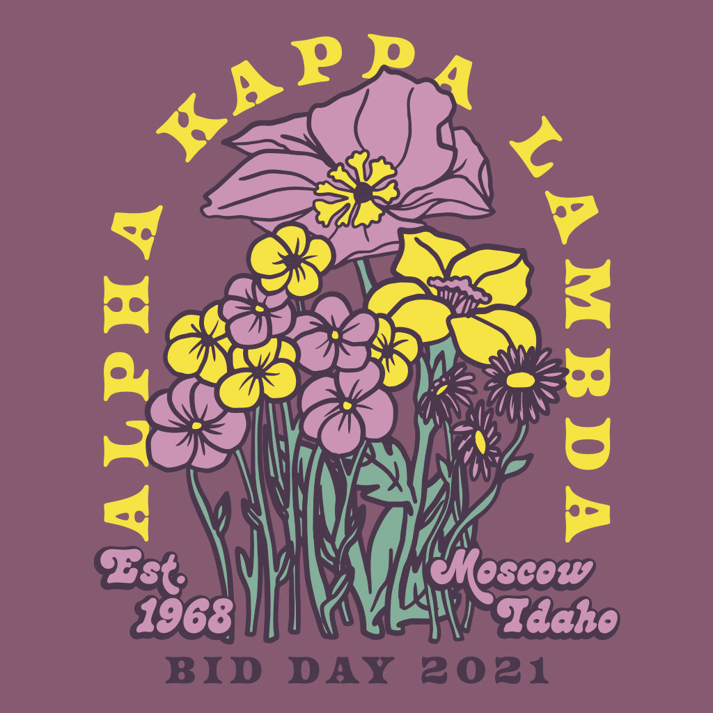 Alpha Kappa Lambda Trippy Flower Design