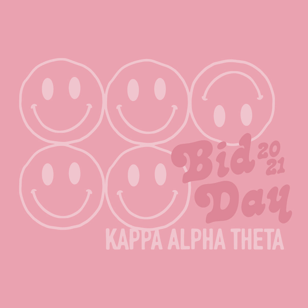 Vintage Smiley Bid Day Design