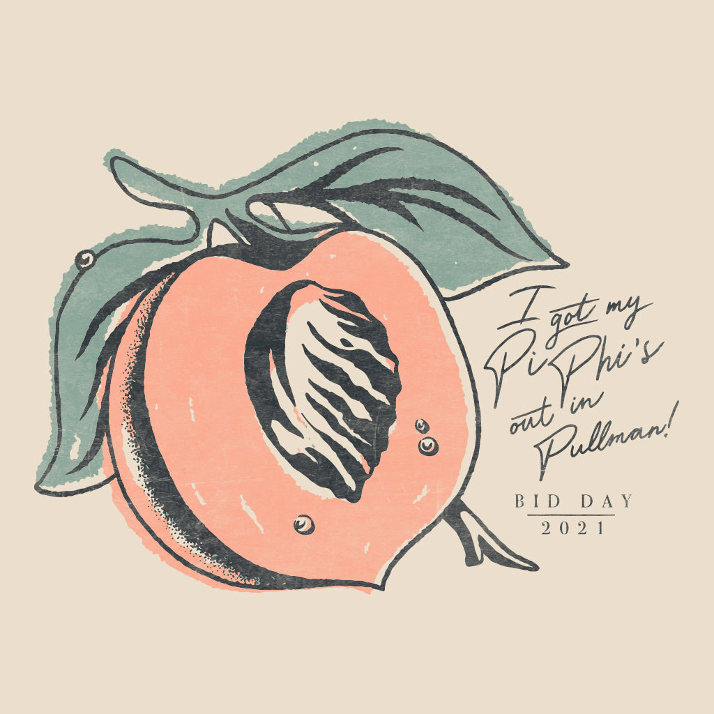 Pi Phi's Peaches Design