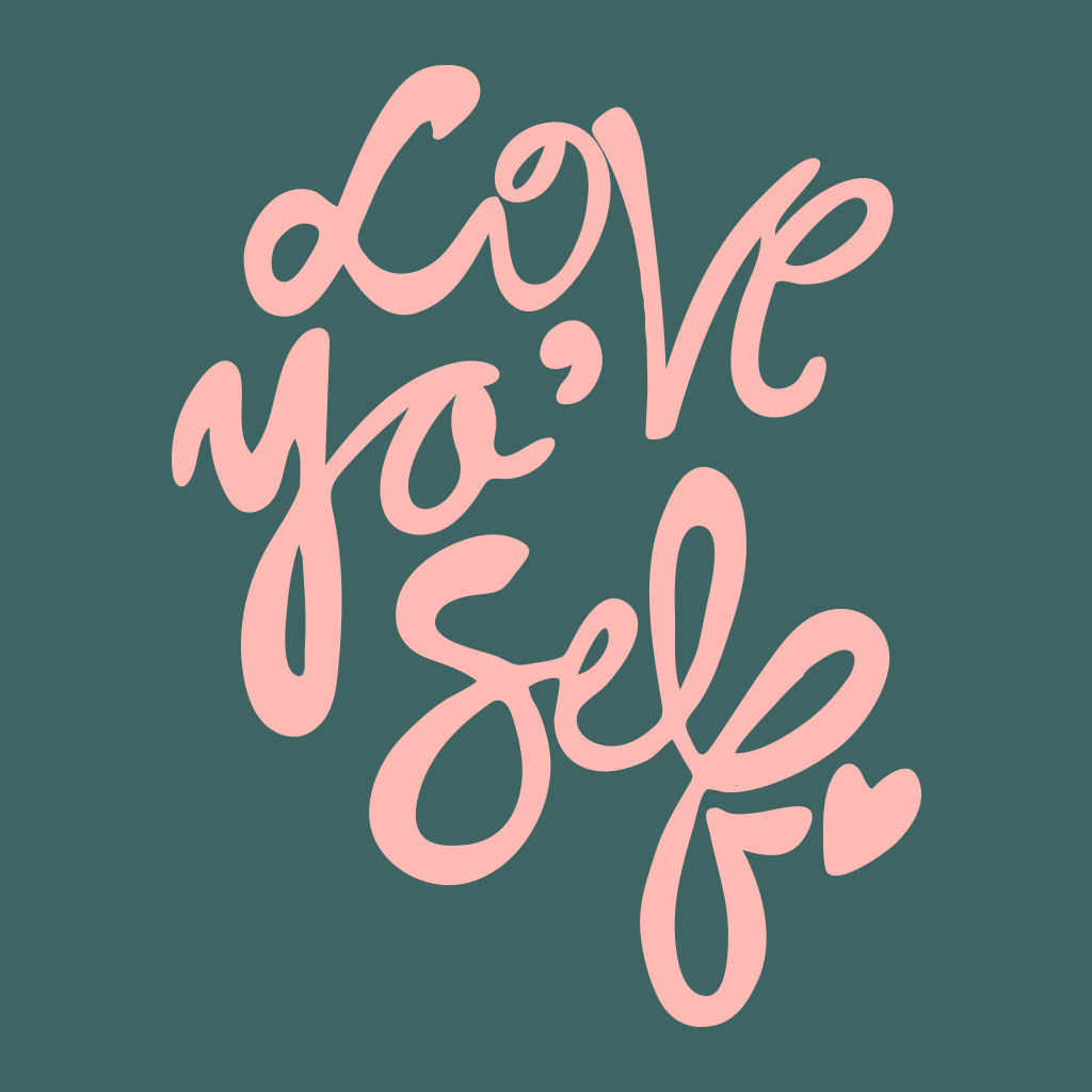 Love Yo' Self Handwritten Script Design