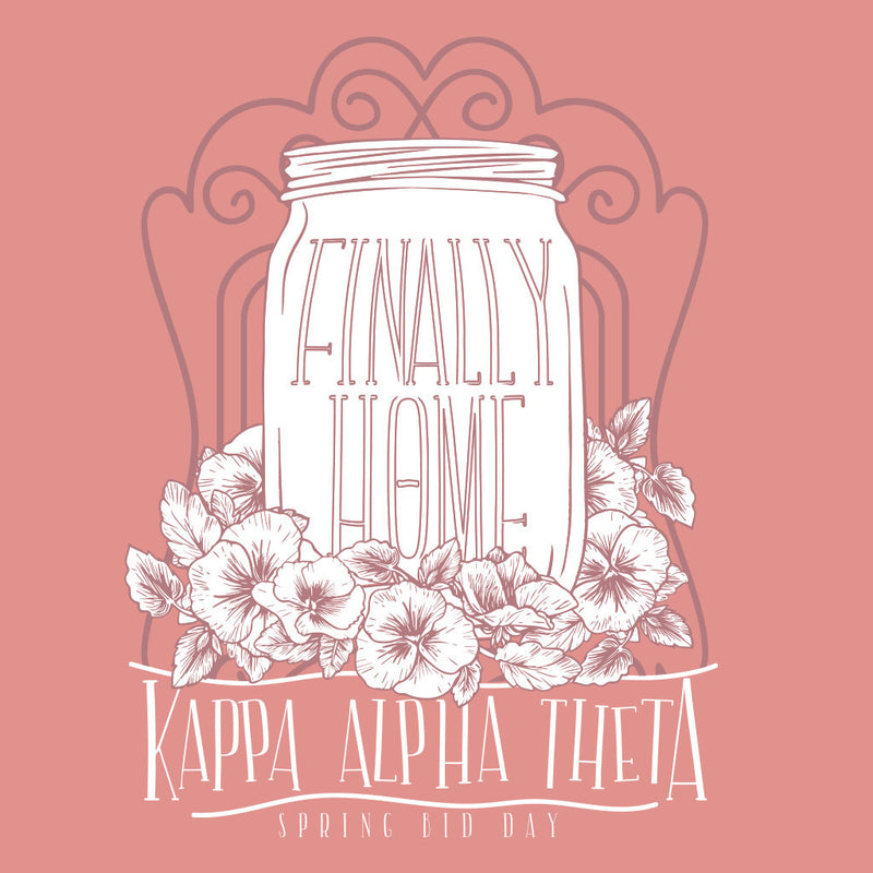 Kappa Alpha Theta Finally Home Bid Day Design