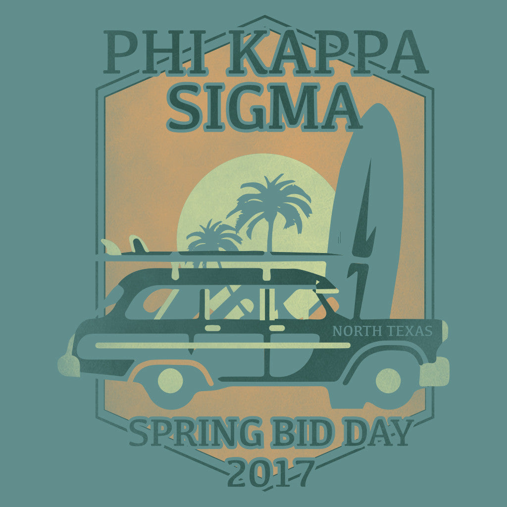 Phi Kappa Sigma Beachin' Bid Day Design