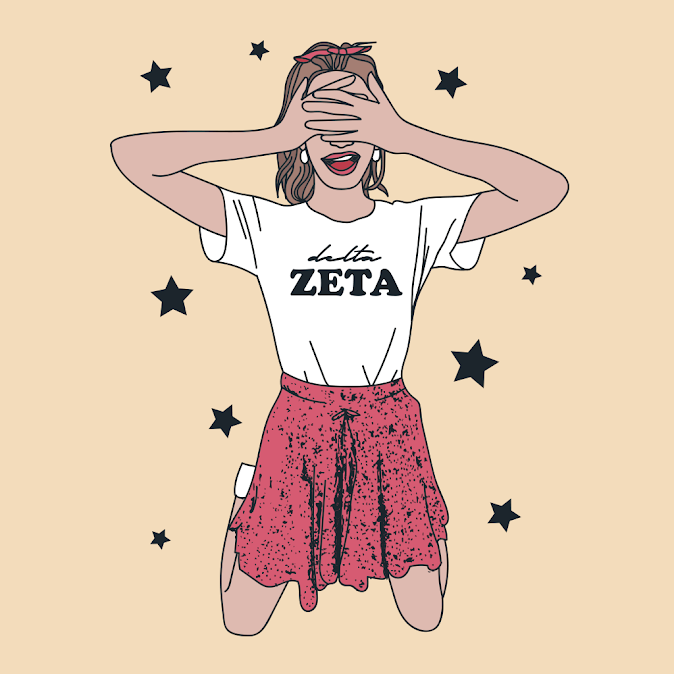 Delta Zeta Seeing Stars Design