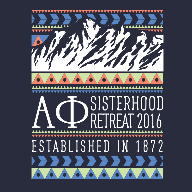Alpha Phi Boho Mountain Design